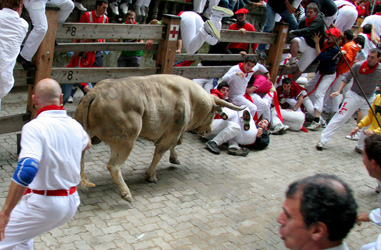 Pamplona, Running Of The Bulls And Bea
