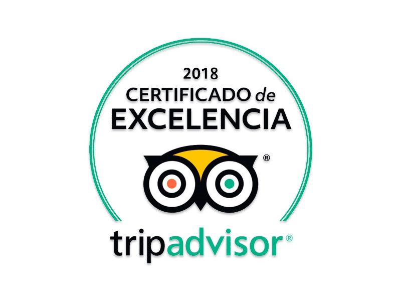 Winner TripAdvisor Certificate of Excellence
