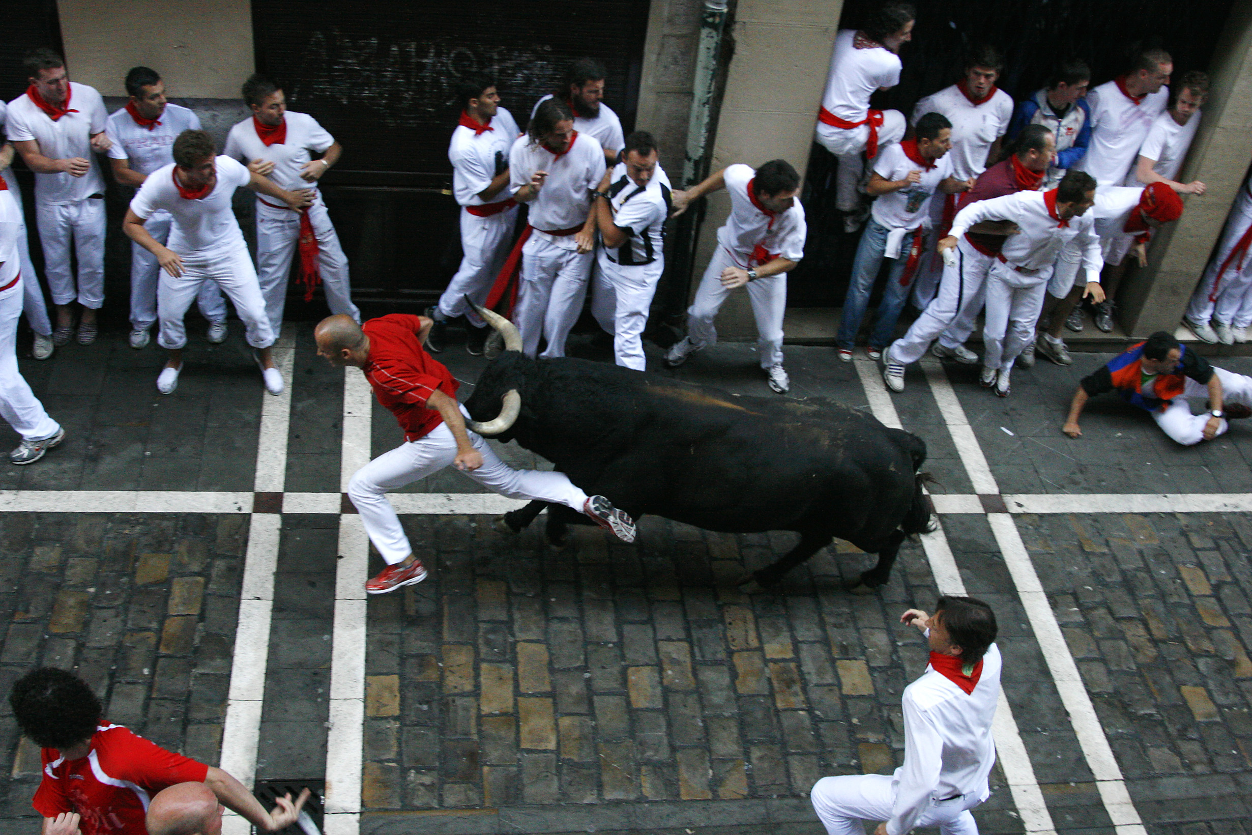 Running Of The Bulls Balcony