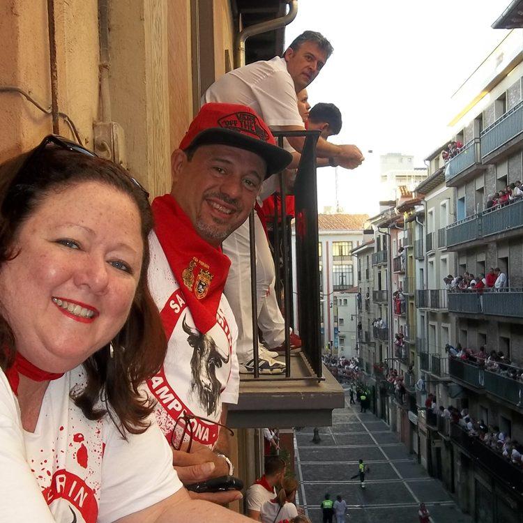 balcony running bulls